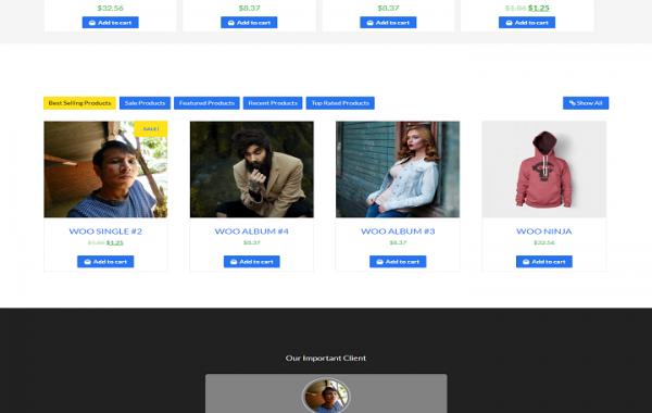 e-commerce website designing project