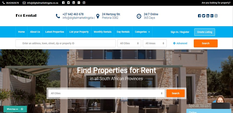 Forrental-Rental-property-website-design-project